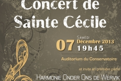 Concert Ste Cécile 7 déc 2013