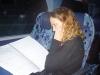 dans l'autocar, Samantha DELBERGHE la studieuse