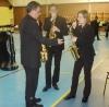 De gauche à droite les saxophonistes Fernando DA SILVA, Antonio MARECO et Daphné PAVOT