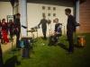 à l'extérieur les percussionniste, de g à d Djerridi MERZOUK, Yanis TIHIANINE, Paul HOCQUE T et Valentin NEVES